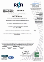 Certificato Rina ISO 9001-2015